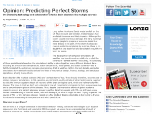 Predicting Perfect Storms