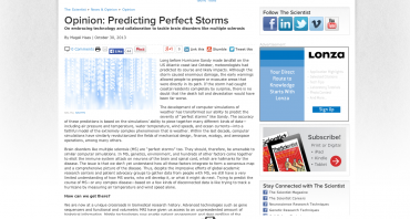 Opinion: Predicting Perfect Storms