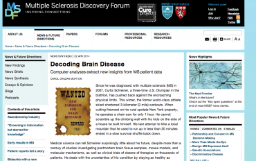 Decoding Brain Disease - article snippet