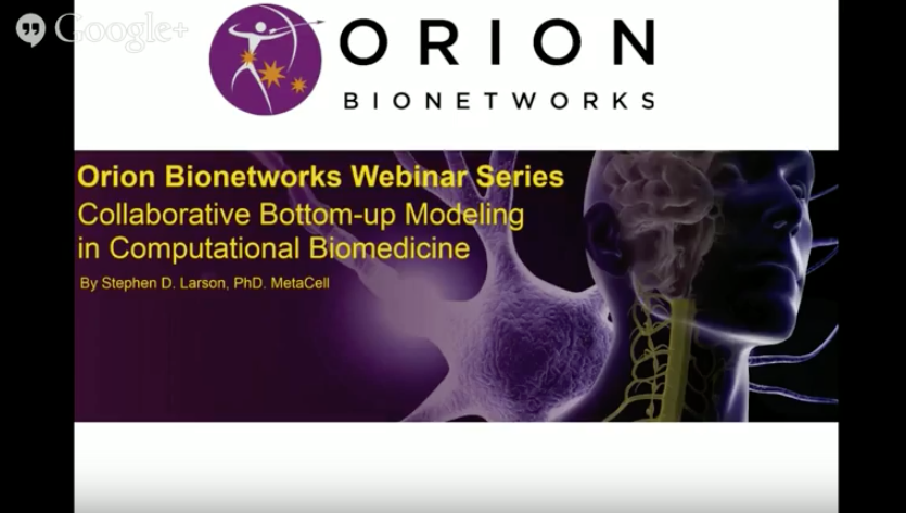 Webinar by Stephen Larson, PhD