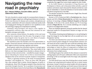 Navigating the new road in psychiatry
