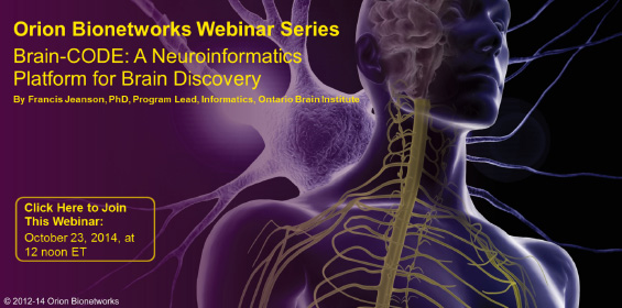 Orion Bionetworks - October 2014 Webinar