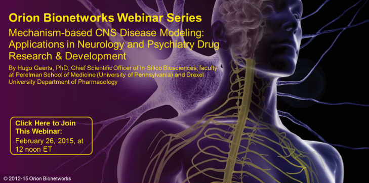 Orion Bionetworks - February 2015 Webinar