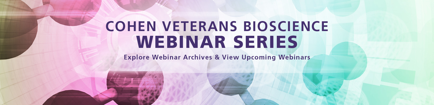 Cohen Veterans Bioscience Webinar Series - Webinars for PTSD, TBI Research