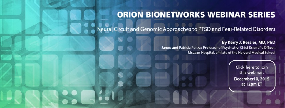 Webinar, December 10, 2015 - Orion Bionetworks - Cohen Veterans Bioscience