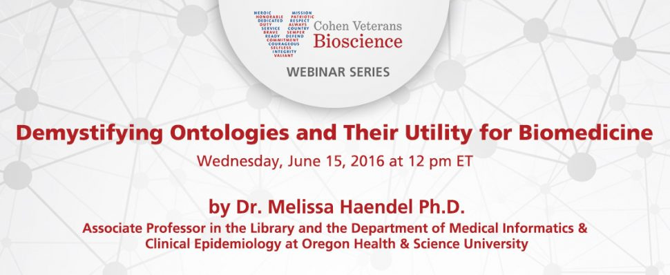 June 2016 Webinar - Cohen Veterans Bioscience