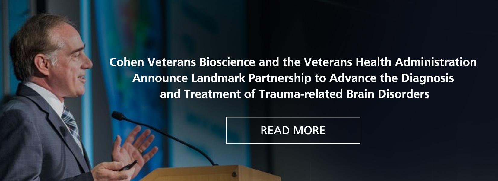 Cohen Veterans Bioscience and the Veterans Health Administration Announce Landmark Partnership
