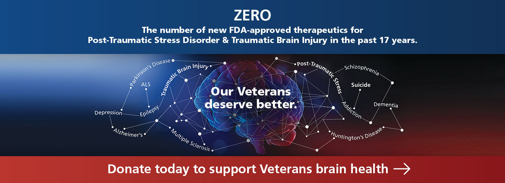 Donate today to support Veterans brain health