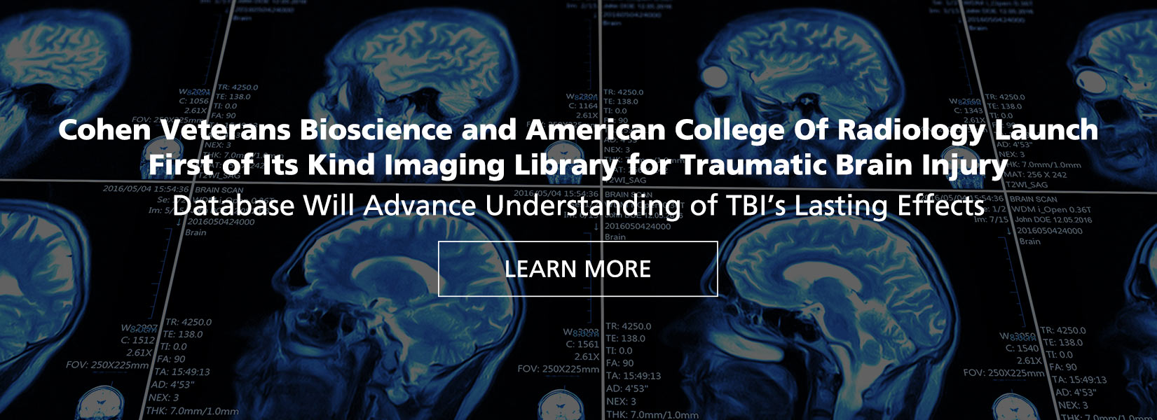 Cohen Veterans Bioscience and American College of Radiology Launch Imaging Library for TBI