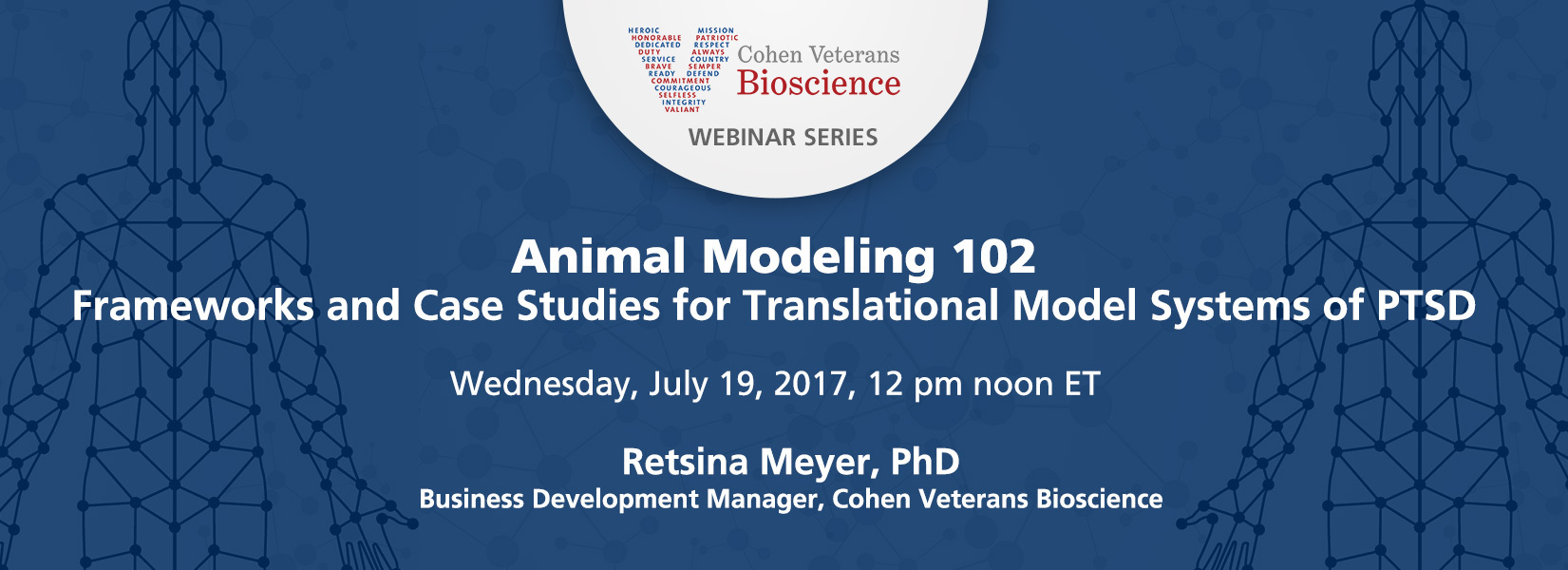 Cohen Veterans Bioscience July 2017 Webinar