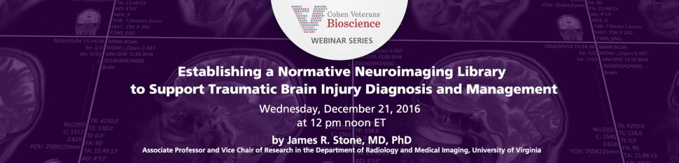 Cohen Veterans Bioscience Webinar Series - December 2016