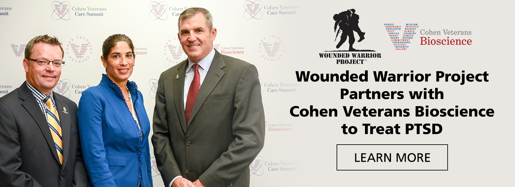 Wounded Warrior Project Partners with Cohen Veterans Bioscience to Treat PTSD