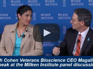 Cohen Veterans Bioscience President & CEO Magali Haas Speaks at the Milken Institute Global Conference: Bringing 21st Century Medicine to America's Veterans