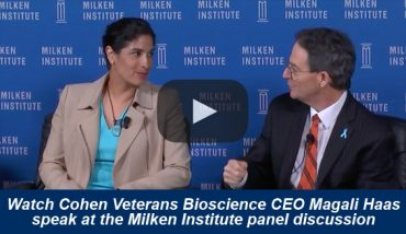 CEO & President of Cohen Veterans Bioscience, Magali Haas, MD, PhD