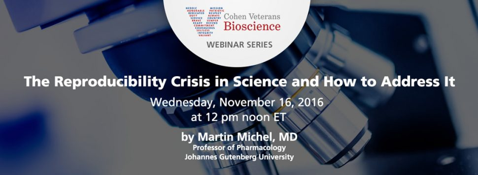 November 2016 Webinar - Cohen Veterans Bioscience