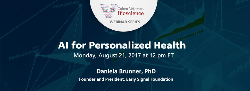 August 2017 Webinar - Cohen Veterans Bioscience