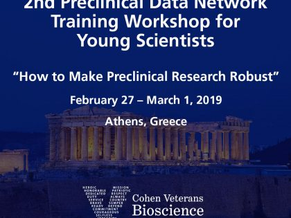 "2nd Preclinical Data Network Training Workshop for Young Scientists: ""How to Make Preclinical Research Robust"""