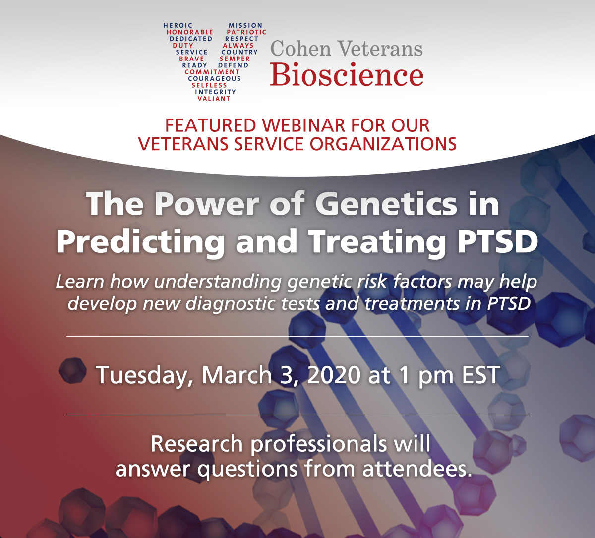 Webinar: The Power of Genetics in Predicting & Treating PTSD