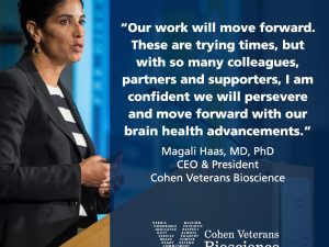 An Important Message on COVID-19 from CEO & President Dr. Magali Haas