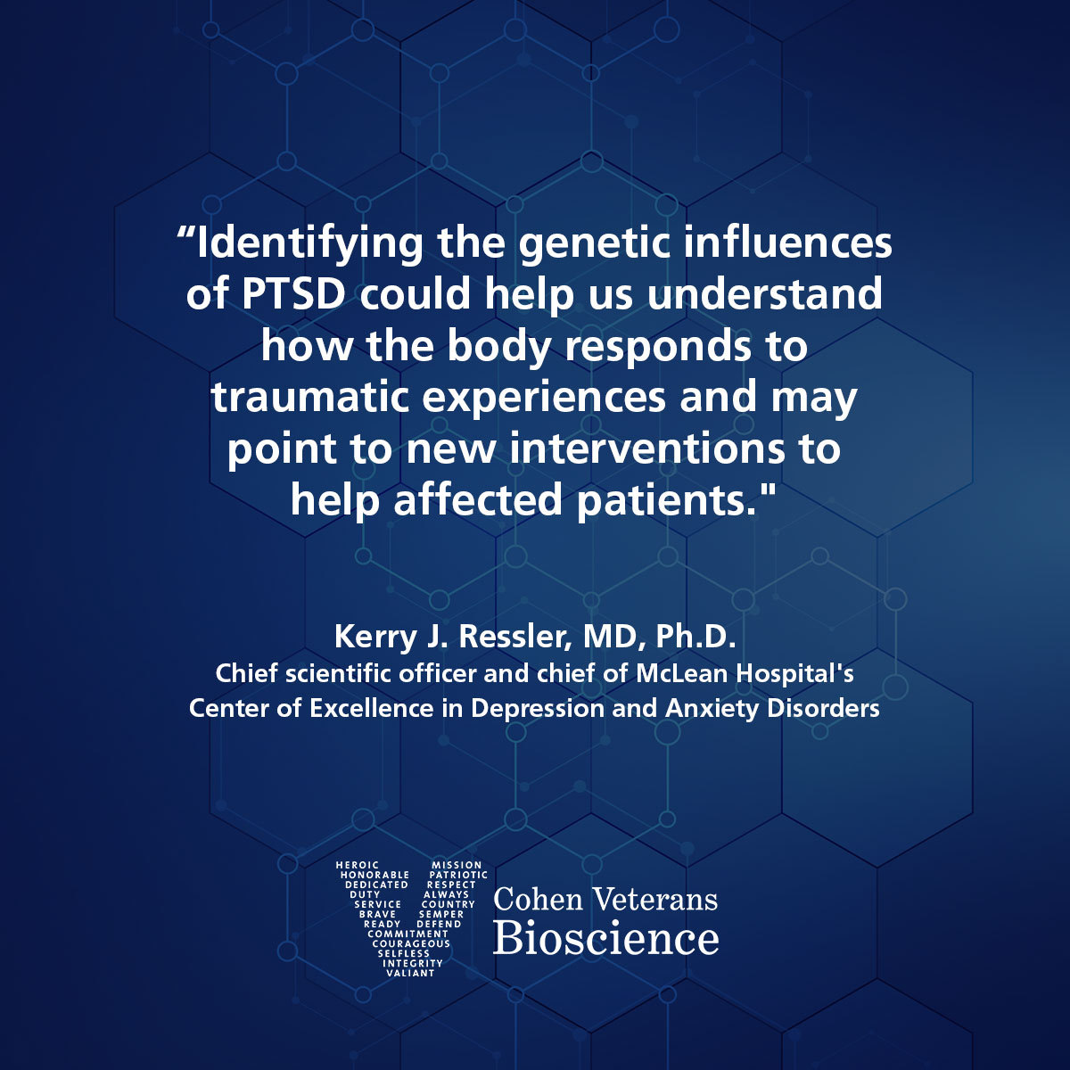 Kerry Ressler, MD, PhD quote