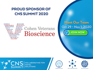 Cohen Veterans Bioscience Virtually Attending & Exhibiting at the 2020 CNS Summit