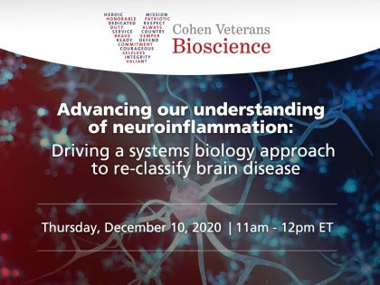 Webinar: Advancing our understanding of neuroinflammation: Driving a systems biology approach to re-classify brain disease