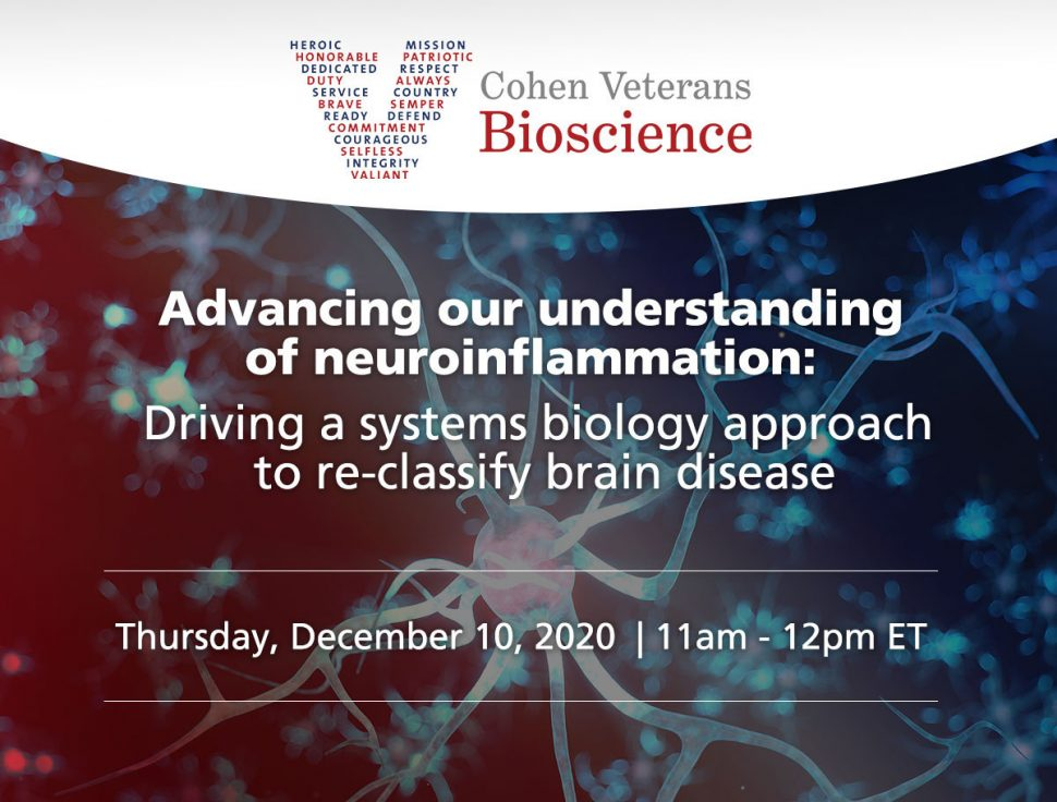 Advancing our understanding of neuroinflammation: Driving a systems biology approach to re-classify brain disease