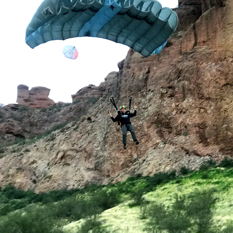 Tristan Wimmer BASE jumping