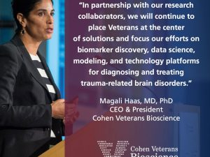 A Message from CEO & President Dr. Magali Haas – Veterans Brain Health Progress Report