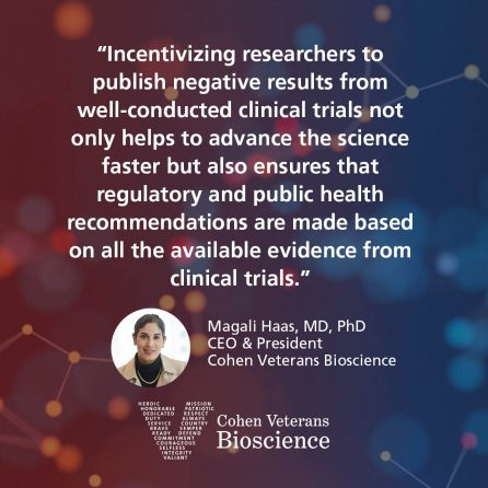 Cohen Veterans Bioscience And The European College Of Neuropsychopharmacology Announce The 2021 Best Negative Data Prize In Clinical Neuroscience