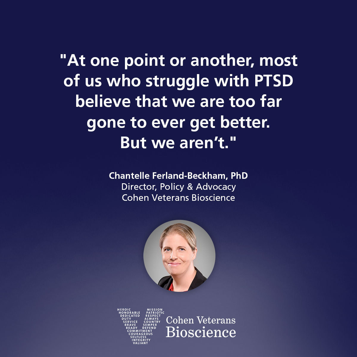 Quote from Dr. Chantelle Ferland-Beckham
