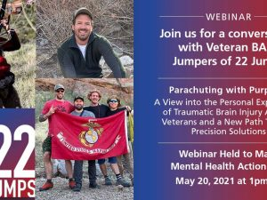 Cohen Veterans Bioscience Hosts Voices of Veterans Webinar to Mark 'Mental Health Action Day' on May 20, 2021